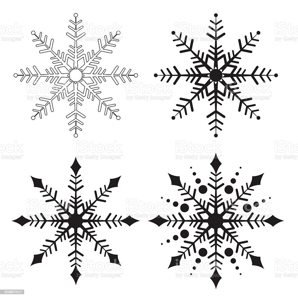 Snowflake royalty-free stock vector art