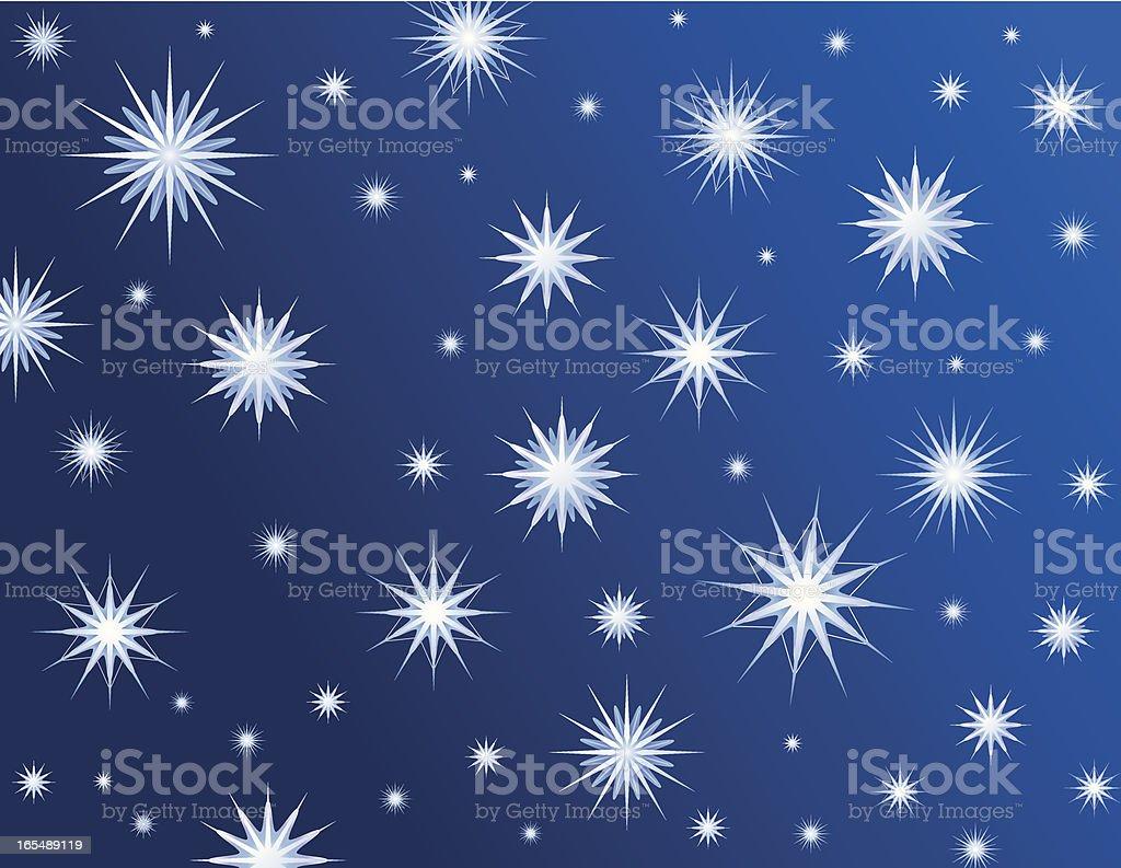 Snowflake Wallpaper royalty-free stock vector art