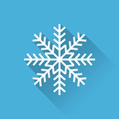 Snowflake white icon
