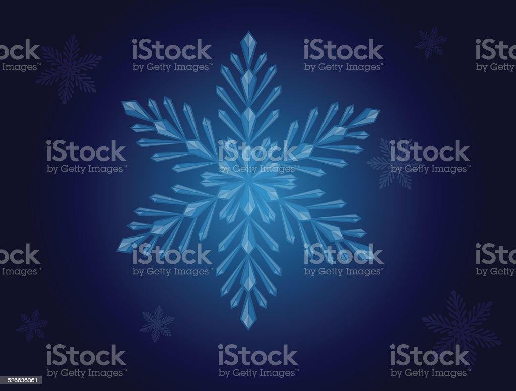 Snowflake. Winter background vector art illustration