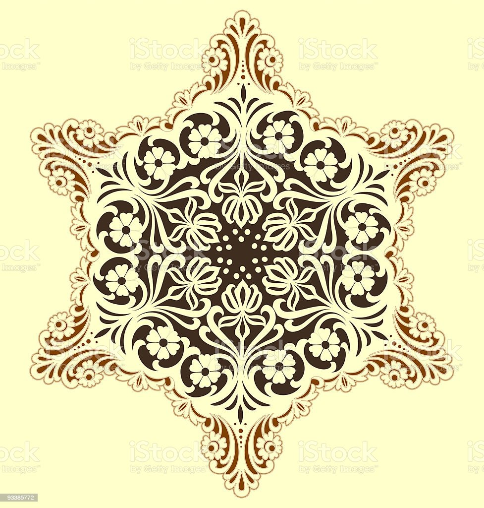 snowflake with flowers royalty-free stock vector art