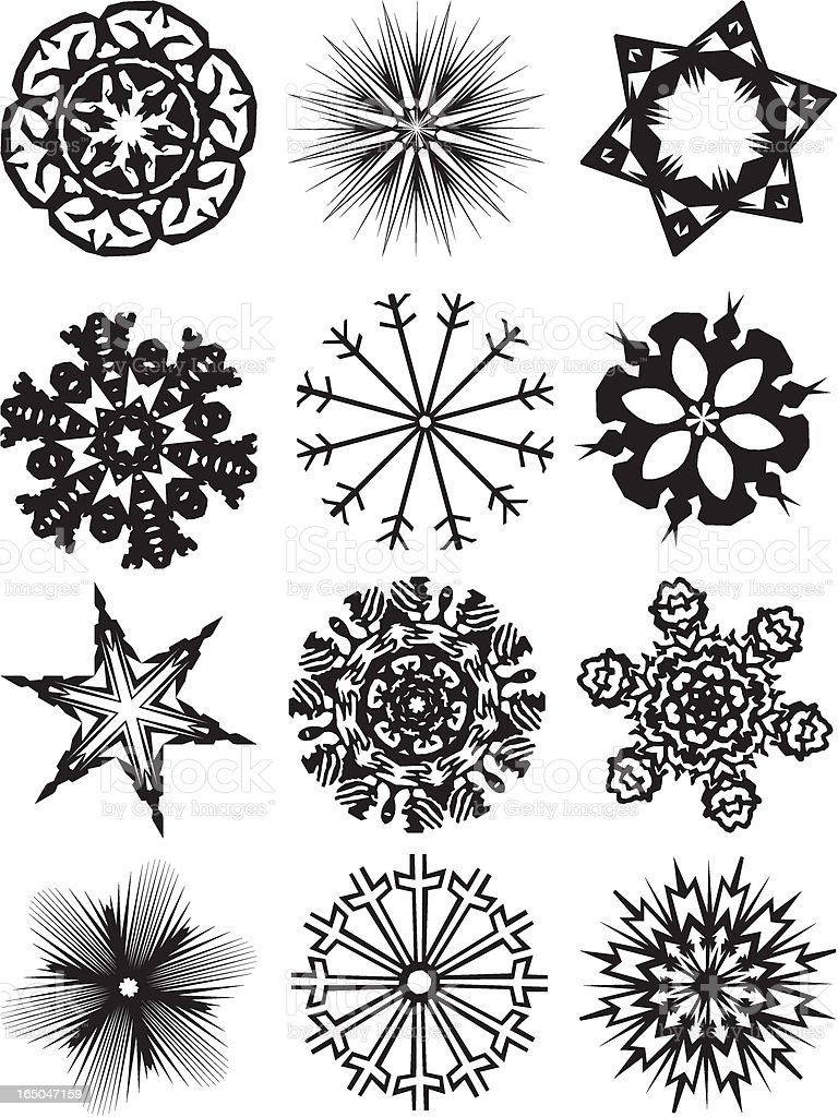 Snowflakes 1 (Vector) royalty-free stock vector art