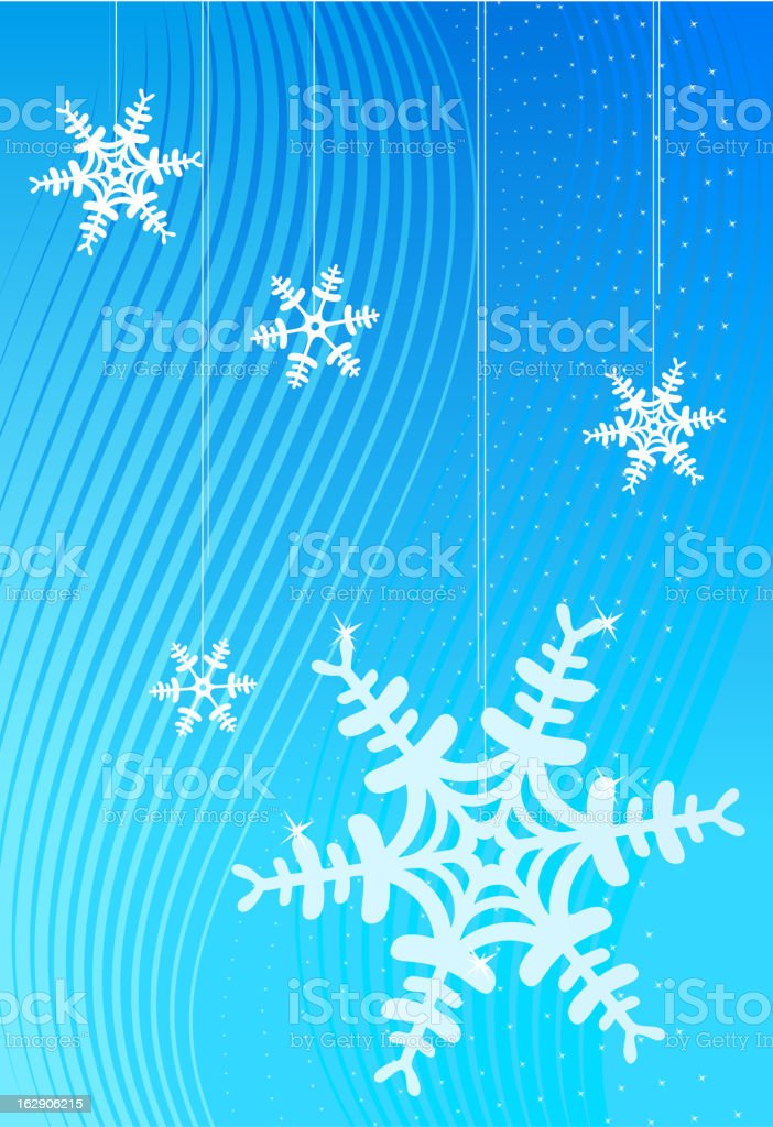 Snowflakes Abstract royalty-free stock vector art
