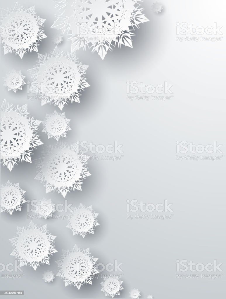 Snowflakes Background. Happy New Year vector art illustration