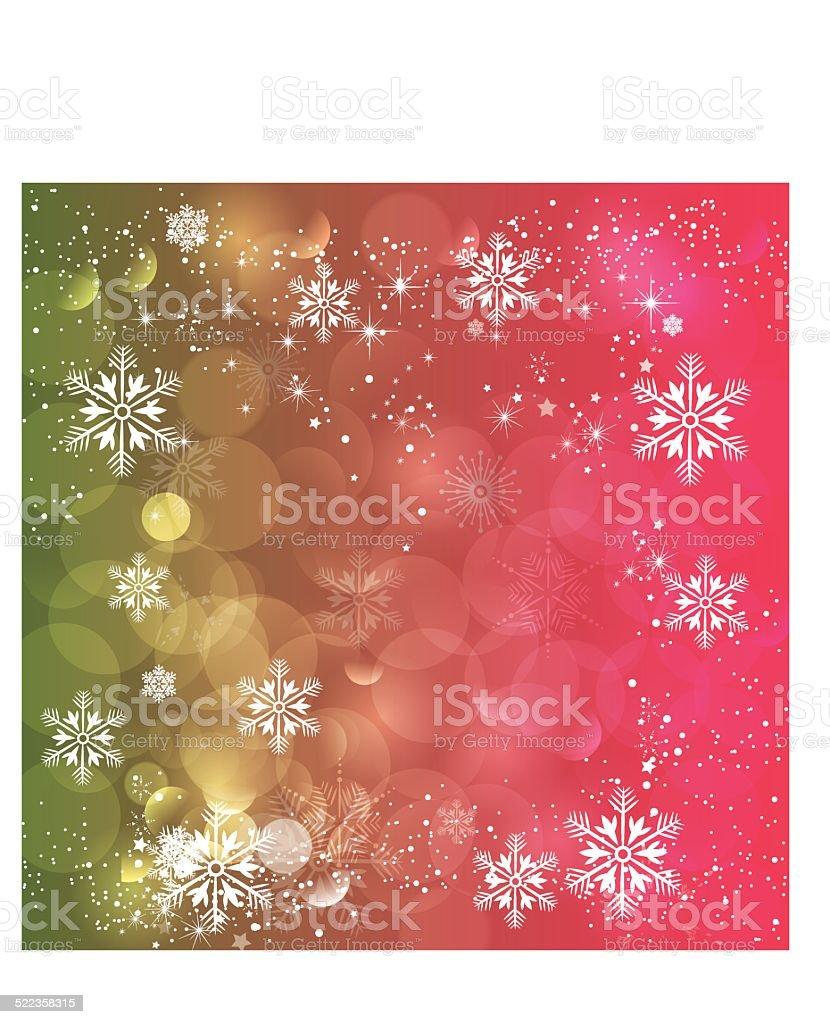Snowflakes Background- Vector vector art illustration
