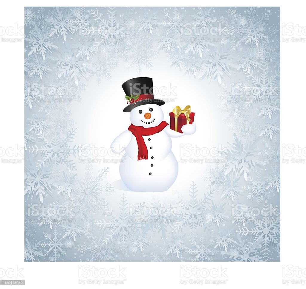 Snowflakes Christmas Background royalty-free stock vector art