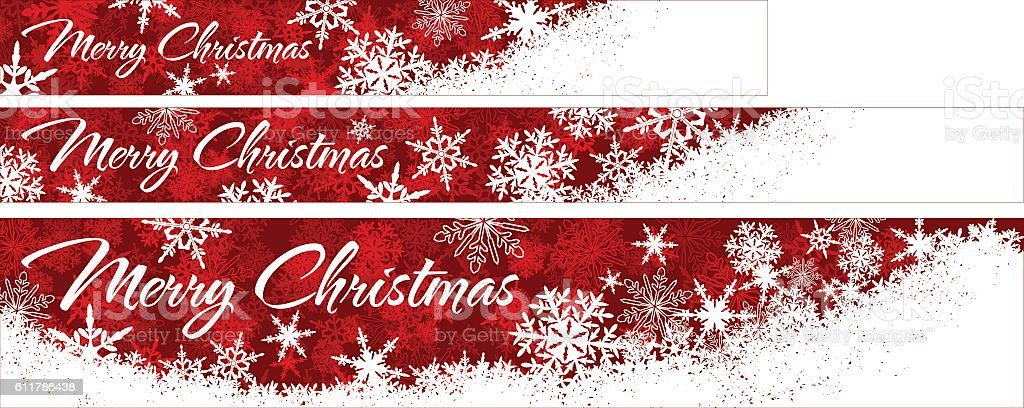 Snowflakes Christmas Web Banners vector art illustration