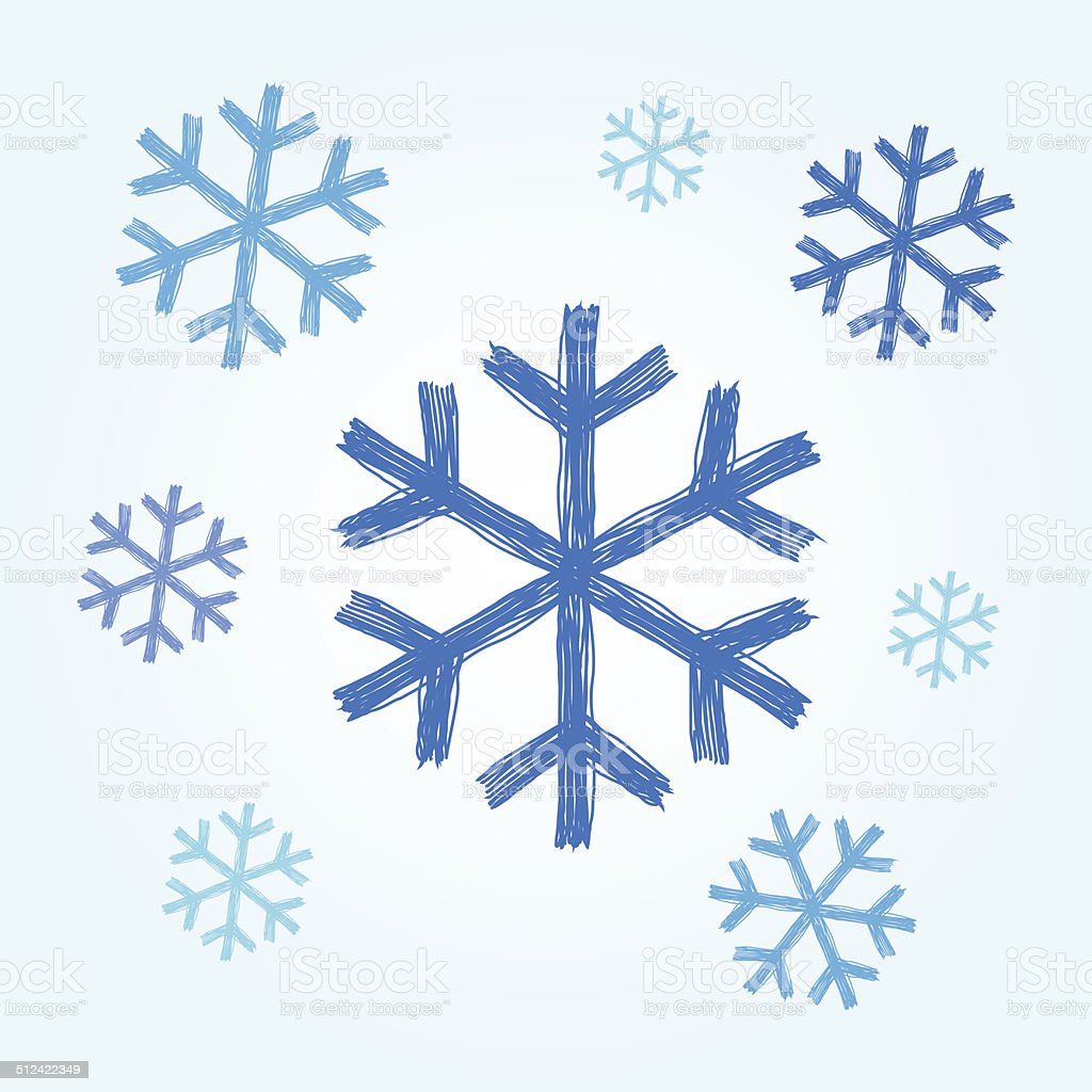 Set Of Snowflake Doodle Royalty Free Cliparts, Vectors, And Stock ...