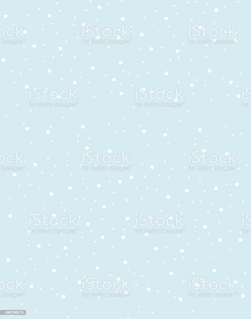 Snowflakes falling from the sky pattern. vector art illustration