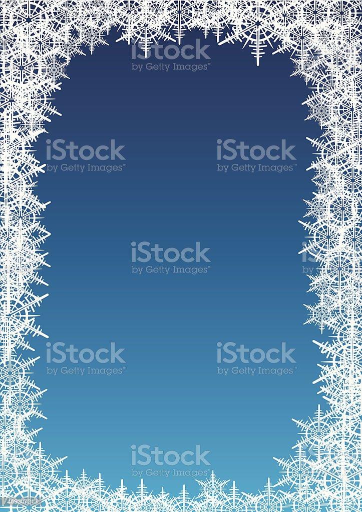 Snowflakes frame royalty-free stock vector art