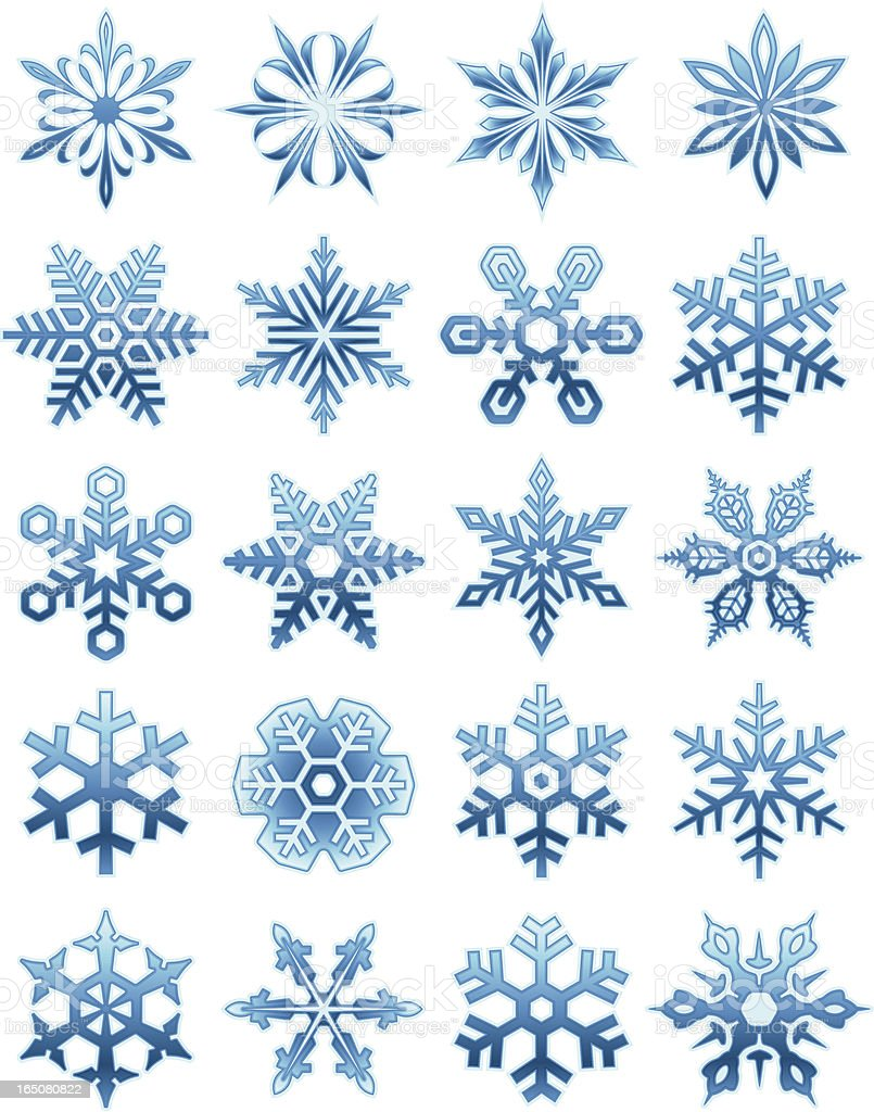 Snowflakes - Glass royalty-free stock vector art