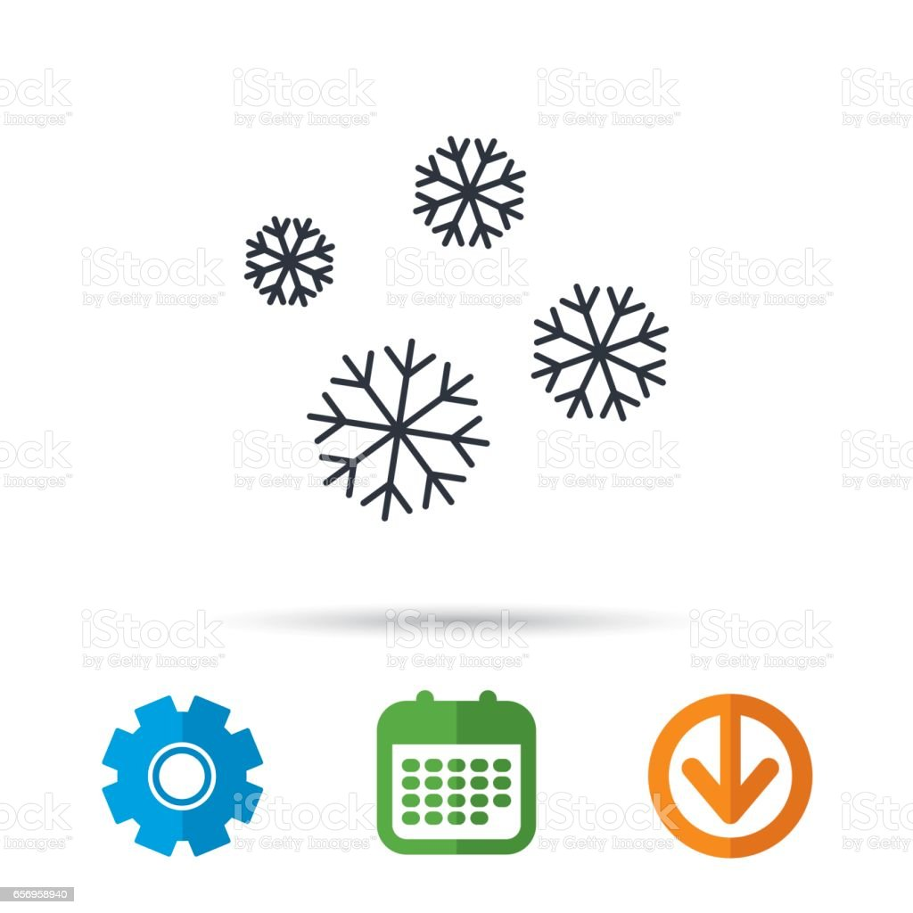 Snowflakes icon. Snow sign. Air conditioning. vector art illustration