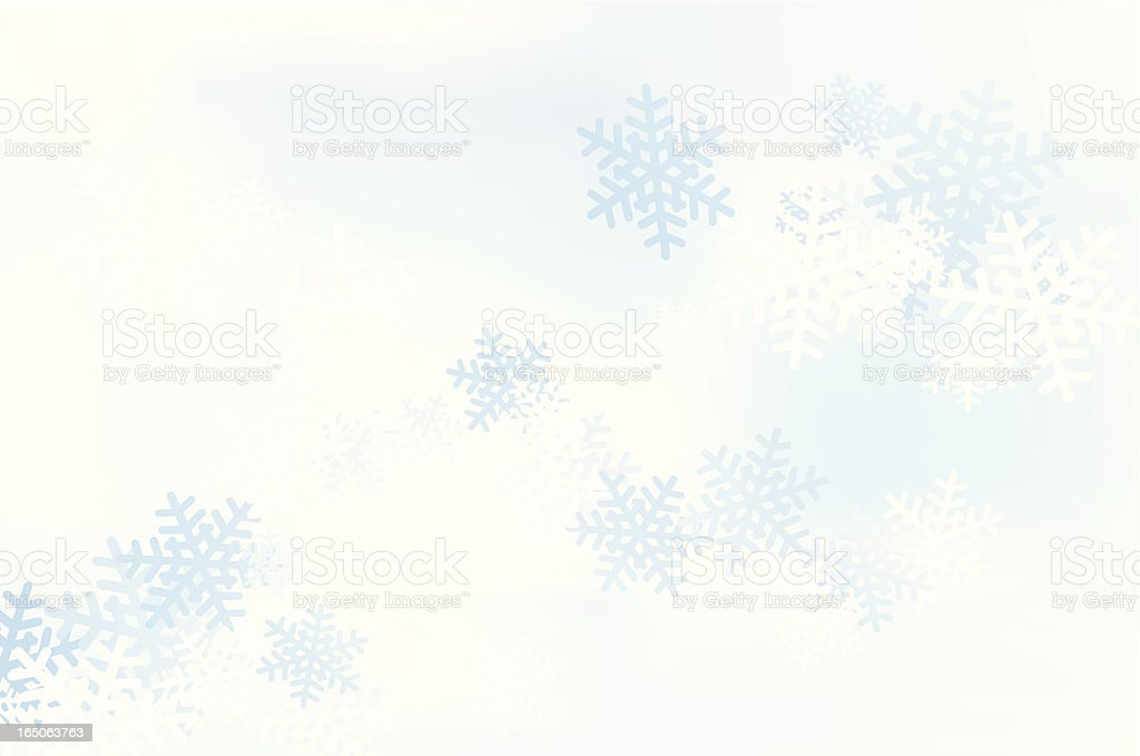 Snowflakes in the sky royalty-free stock vector art