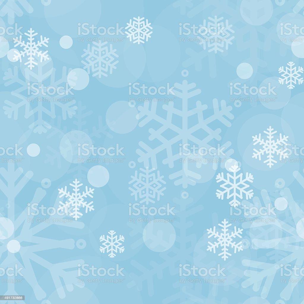 Snowflakes light blue seamless pattern. Christmas background vector art illustration