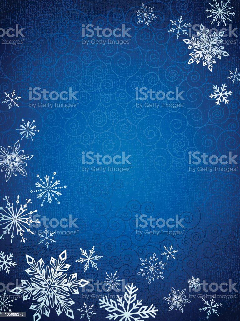 Snowflakes on a blue background royalty-free stock vector art