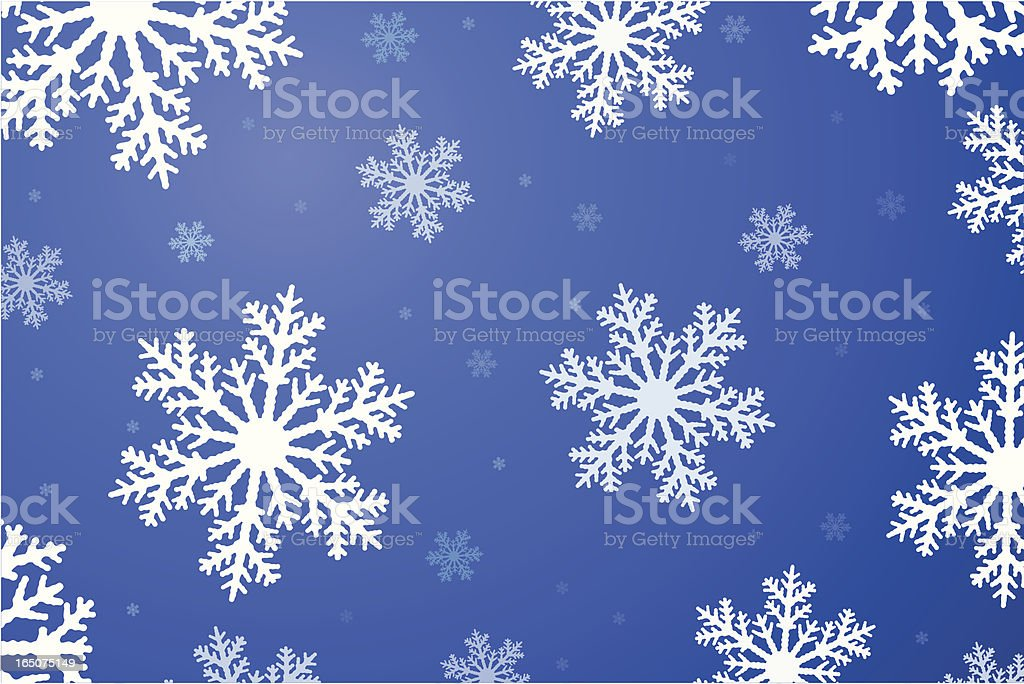 Snowflakes on Blue (Vector) royalty-free stock vector art