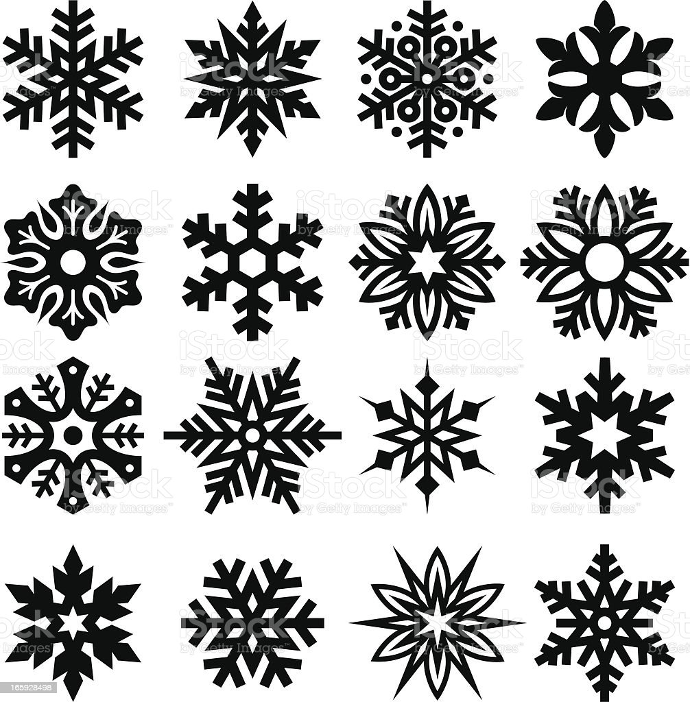 Snowflakes One royalty-free stock vector art