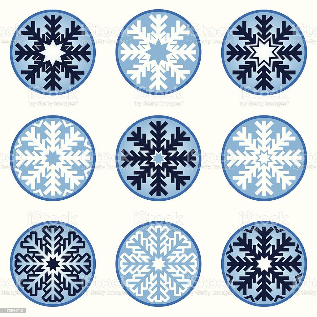 Snowflakes Ornaments royalty-free stock vector art