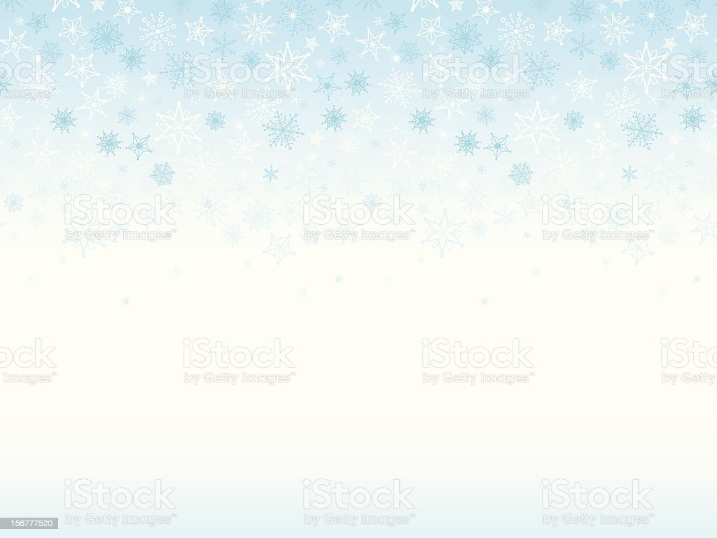 Snowflakes Seamless Background royalty-free stock vector art