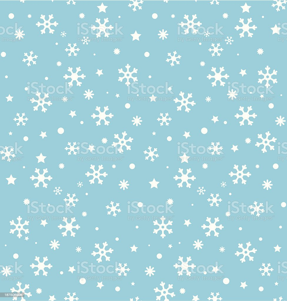 snowflakes seamless blue royalty-free stock vector art