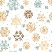 Snowflakes seamless pattern for Christmas packaging
