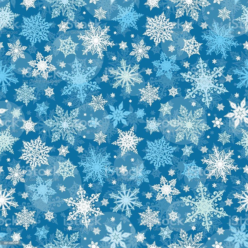 Snowflakes Seamless Pattern - Illustration vector art illustration