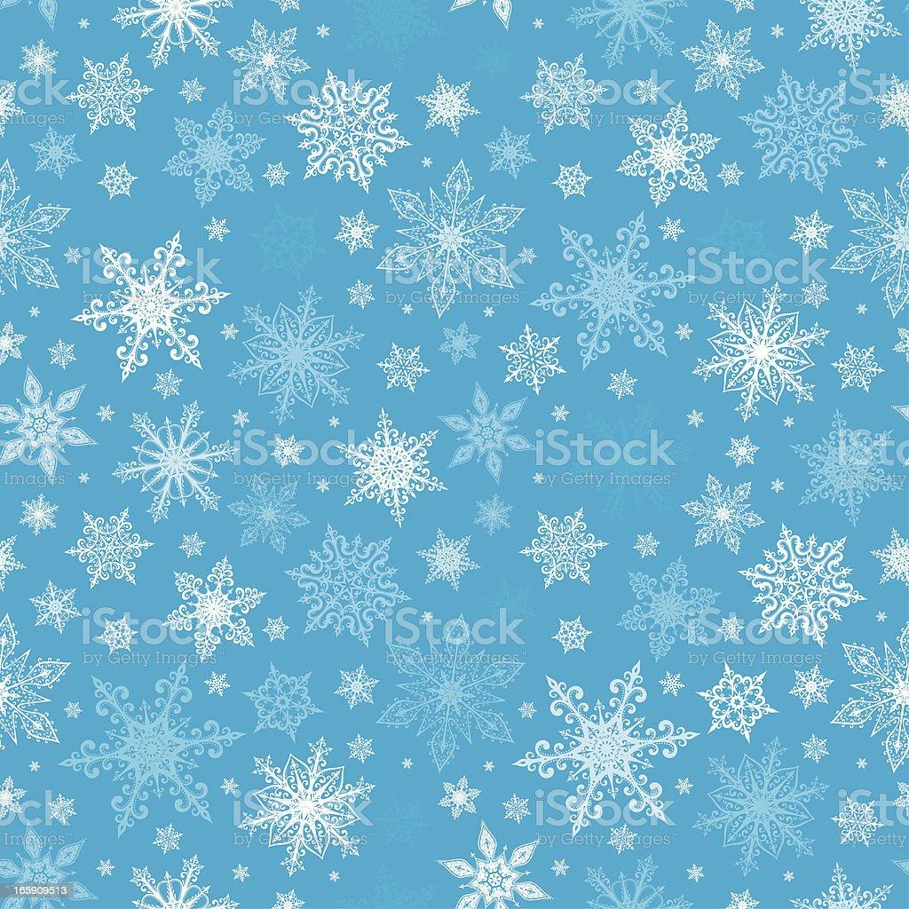 Snowflakes - seamless pattern royalty-free stock vector art