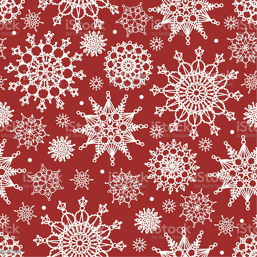 Snowflakes seamless pattern royalty-free stock vector art