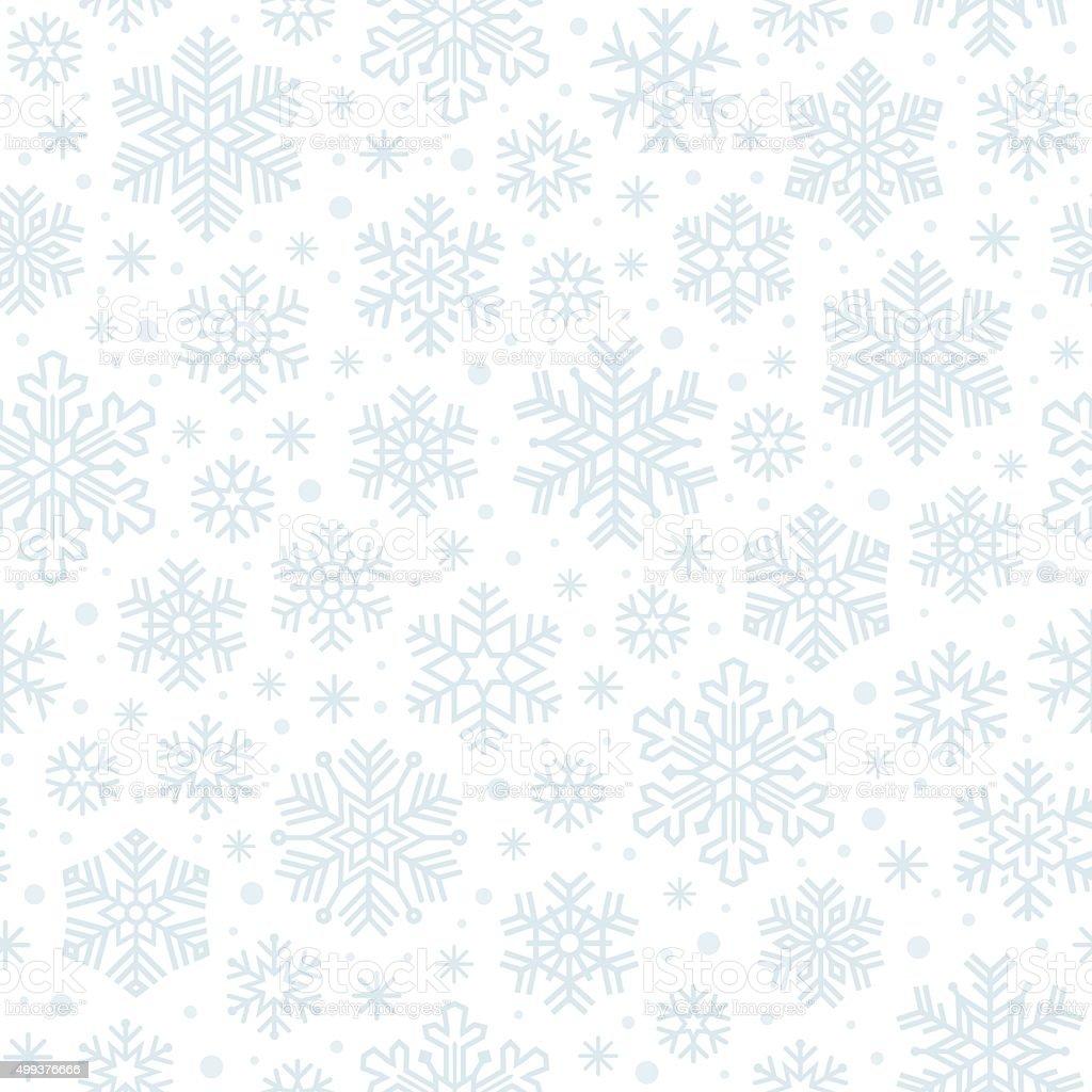 Snowflakes seamless pattern vector art illustration