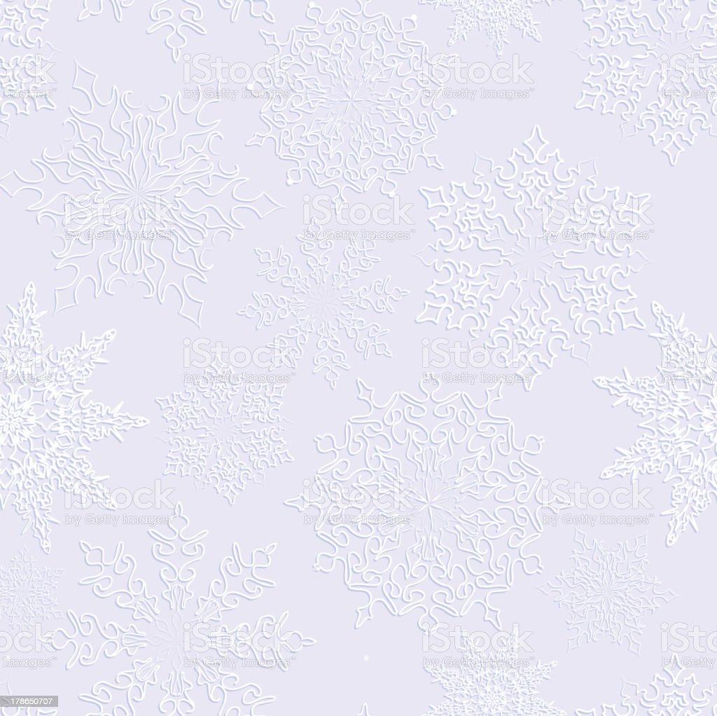 Snowflakes seamless texture. royalty-free stock vector art