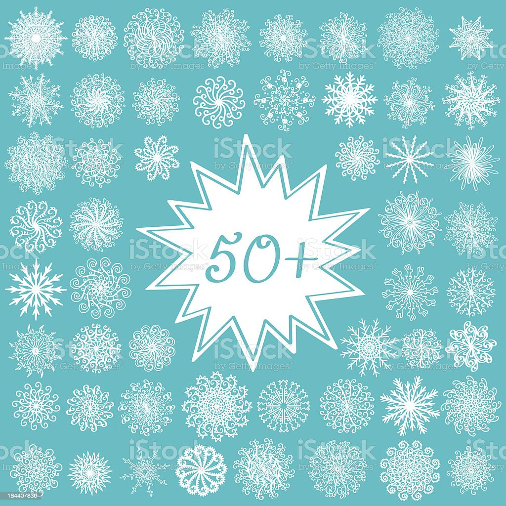 Snowflakes set royalty-free stock vector art