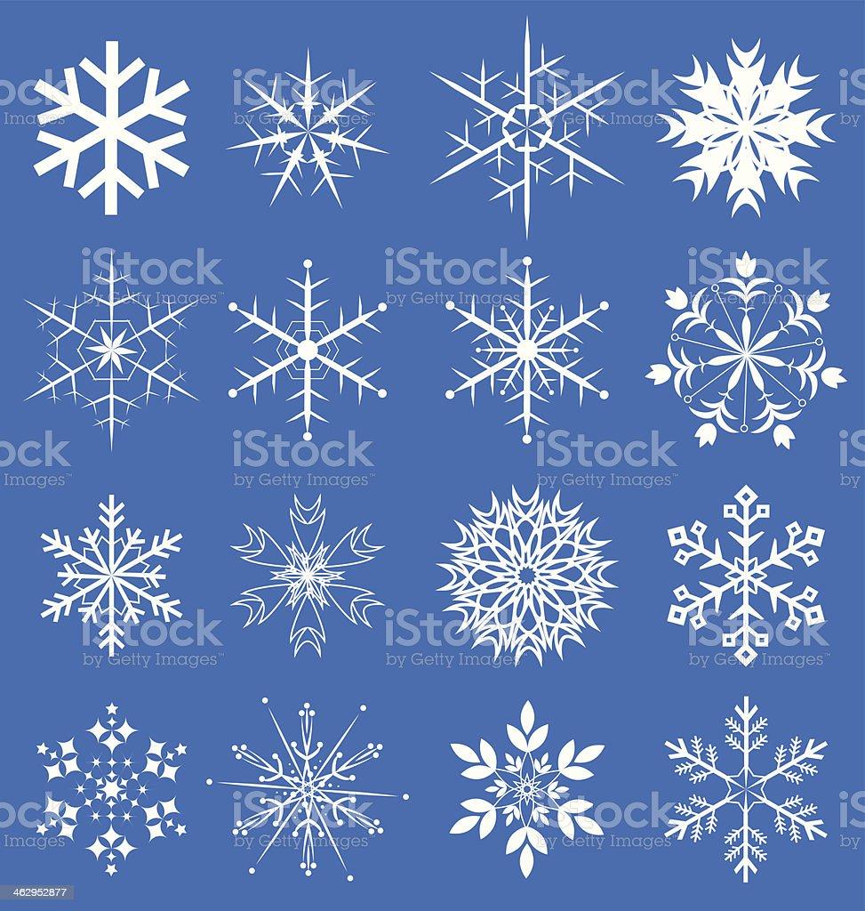 Snowflakes set vector vector art illustration