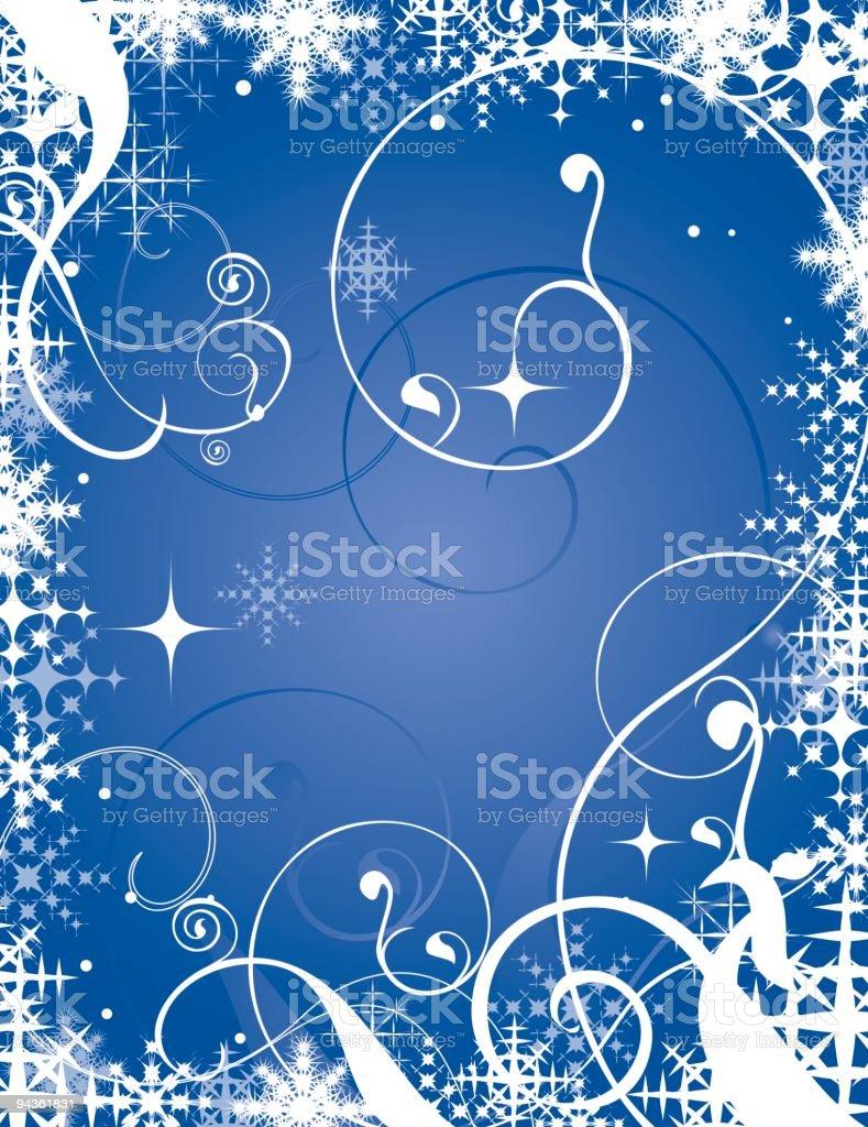Snowflakes & Swirls royalty-free stock vector art