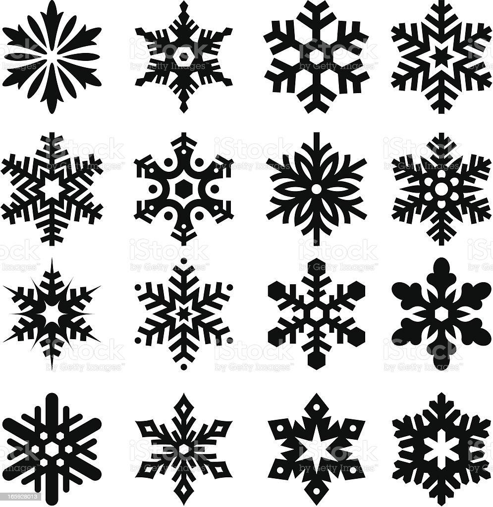 Snowflakes Three royalty-free stock vector art