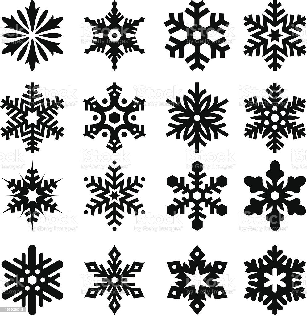 Snowflakes Three vector art illustration