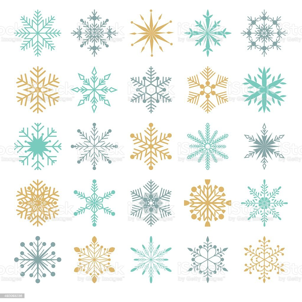 Snowflakes vector collection vector art illustration