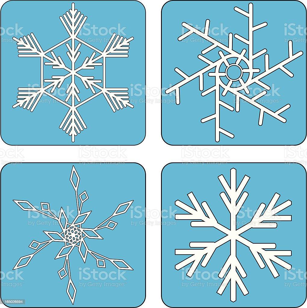 Snowflakes ( vector ) royalty-free stock vector art