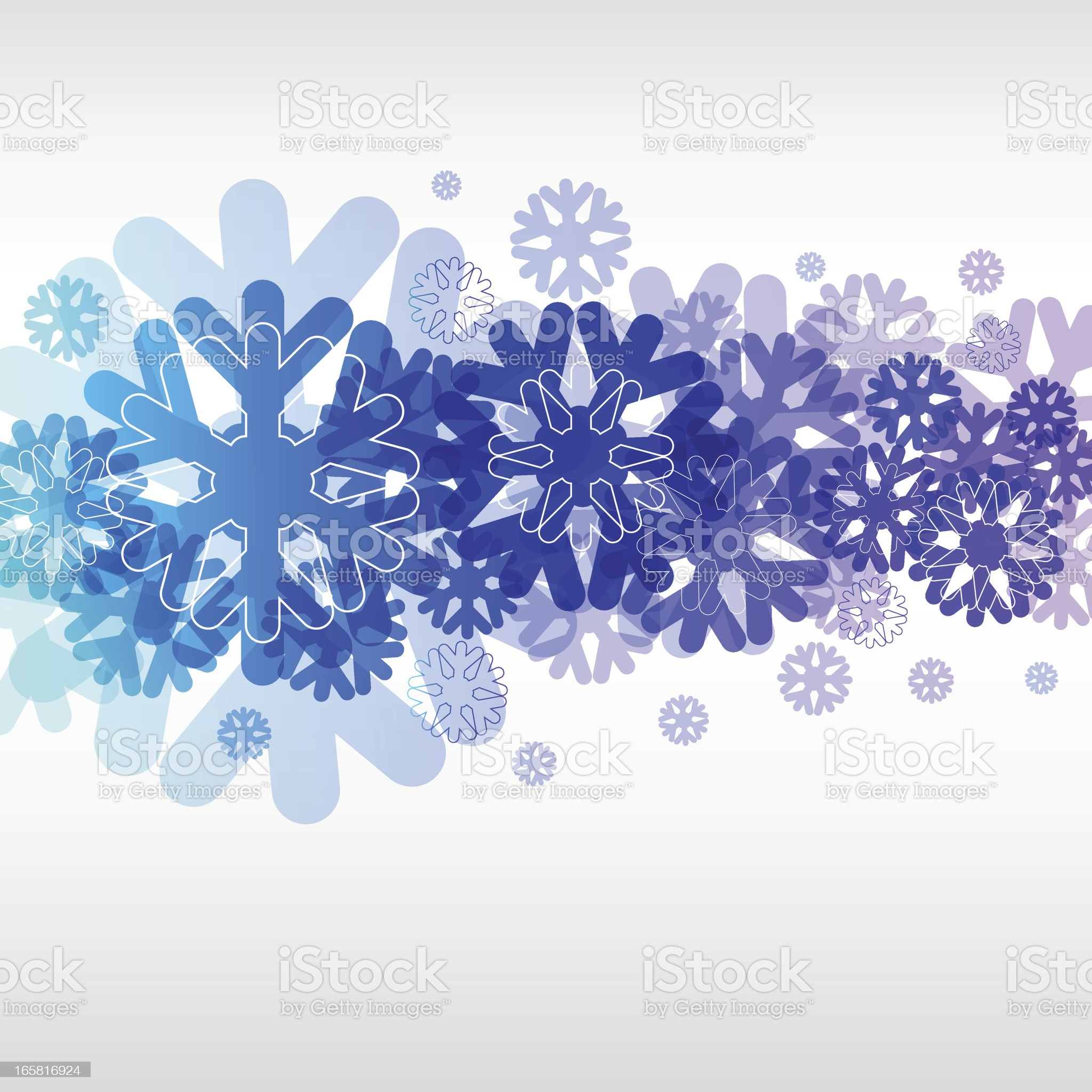 Snowflakes royalty-free stock vector art