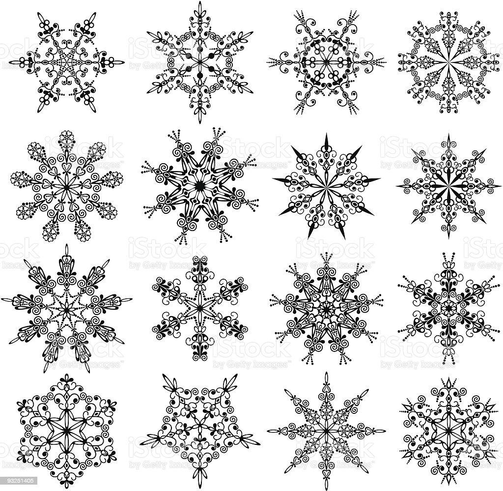 Snowflakes, vector royalty-free stock vector art