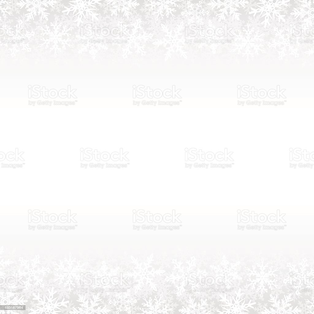 Snowflakes White Winter Background vector art illustration