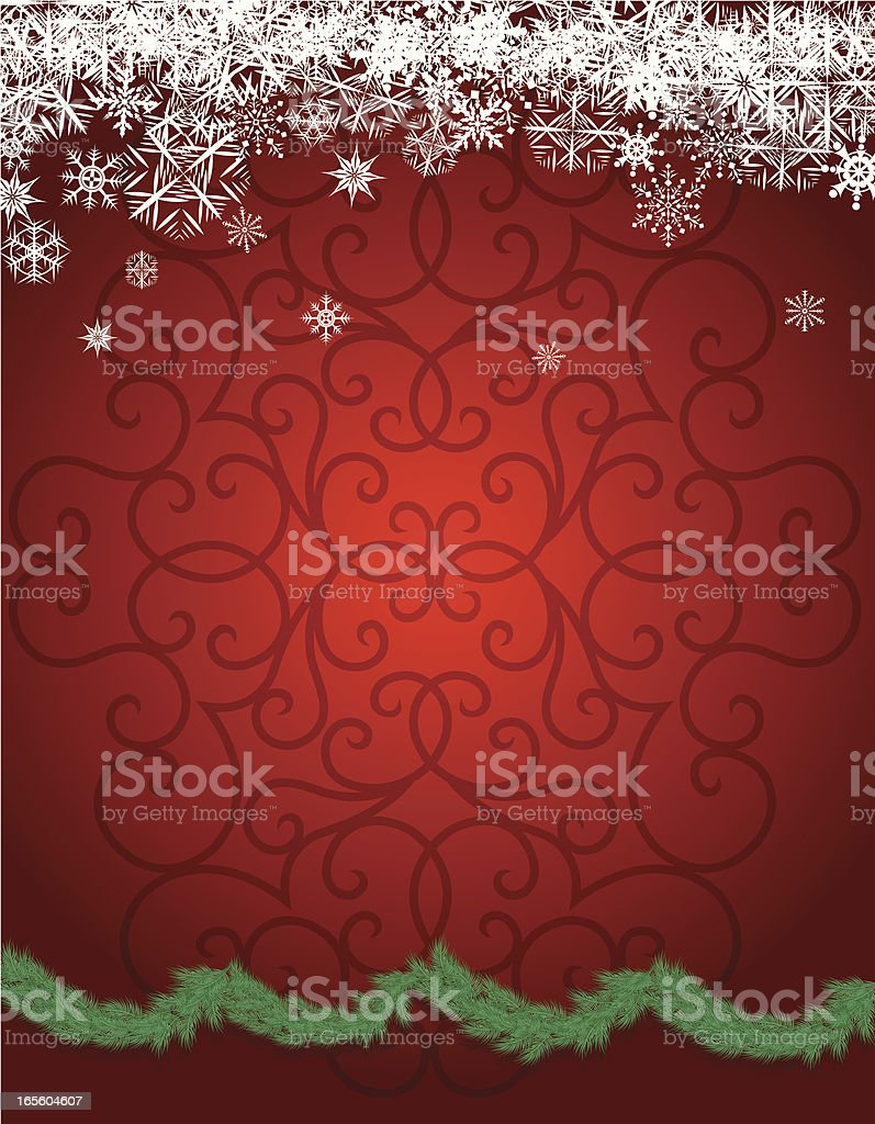 Snowflakes with Garland - Christmas Background royalty-free stock vector art