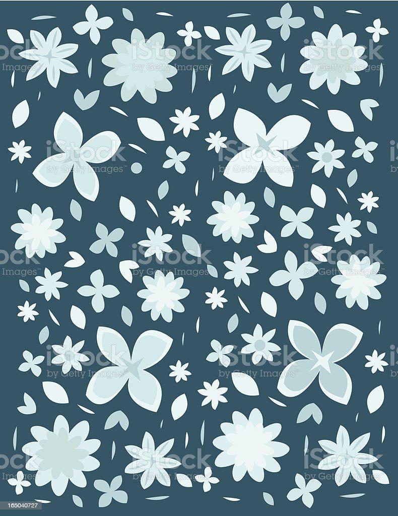 snowflowers vector art illustration