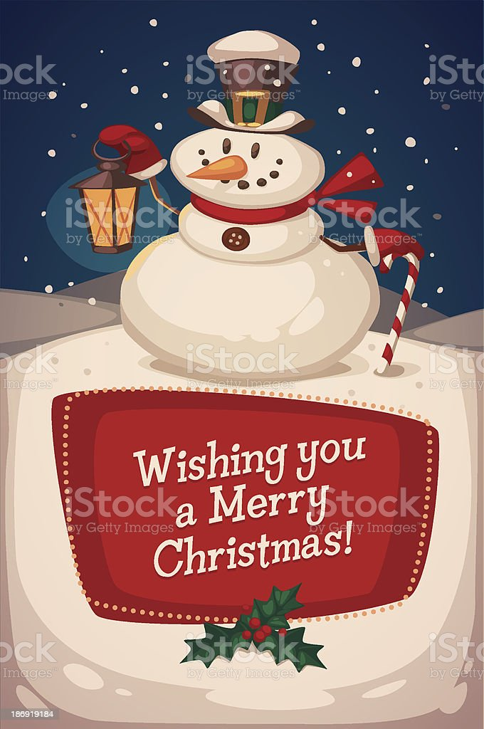 Snowman background royalty-free stock vector art