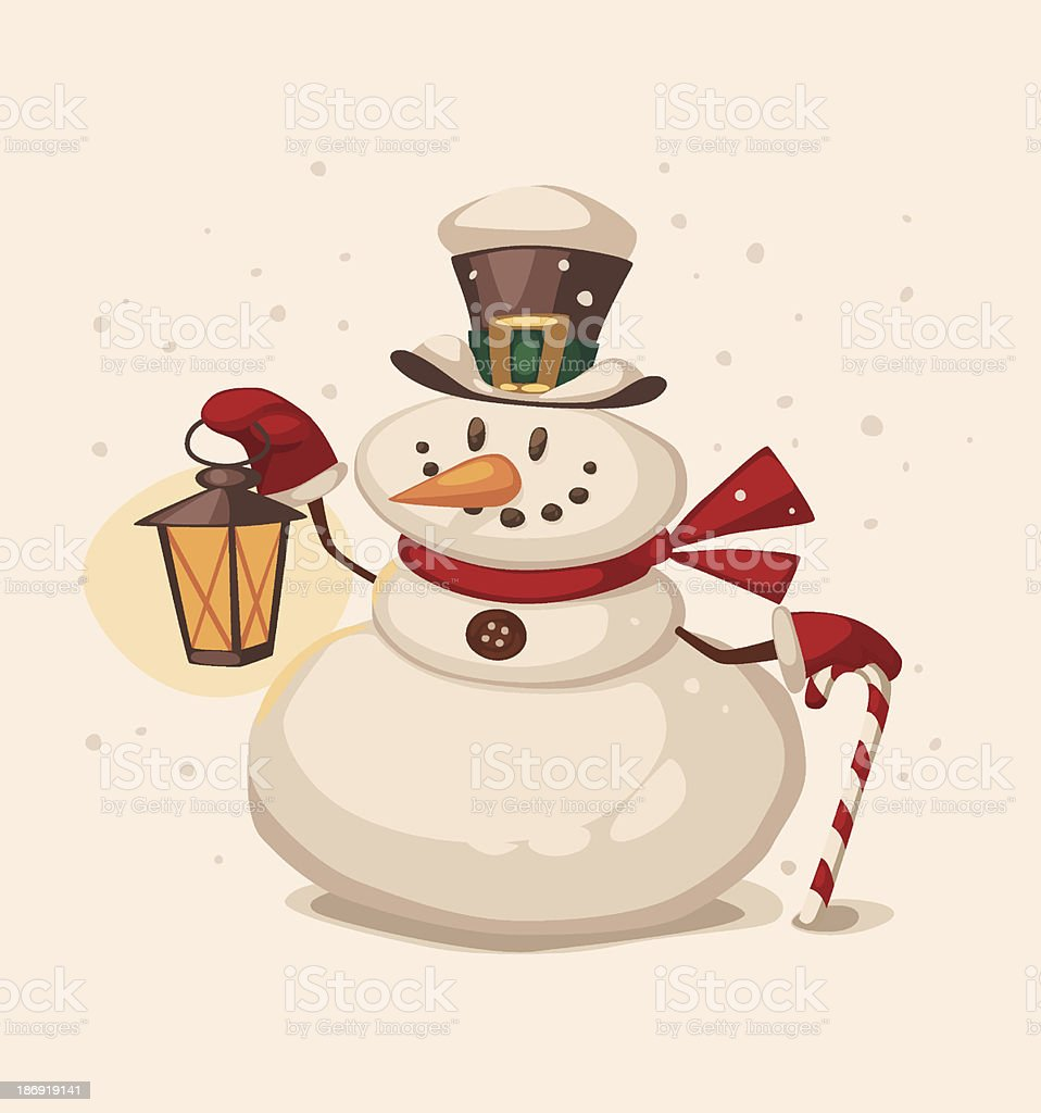Snowman character royalty-free stock vector art