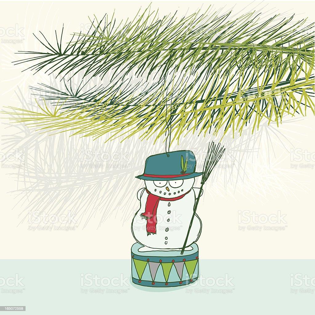 snowman christmas ornament royalty-free stock vector art
