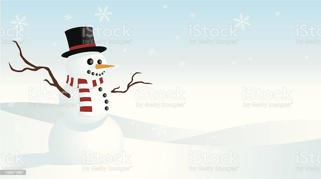 Snowman Greeting Card royalty-free stock vector art