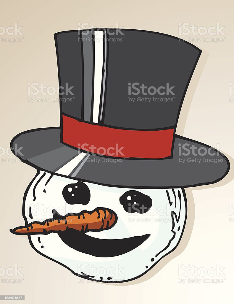 Snowman Head royalty-free stock vector art