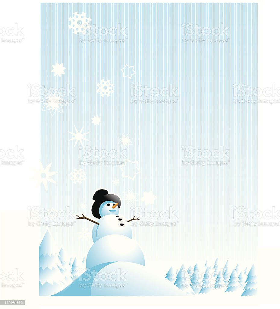Snowman Holiday Card royalty-free stock vector art