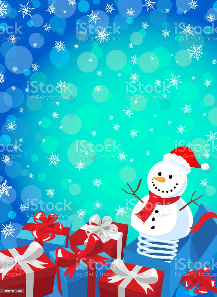 Snowman Jack In The Box royalty-free stock vector art