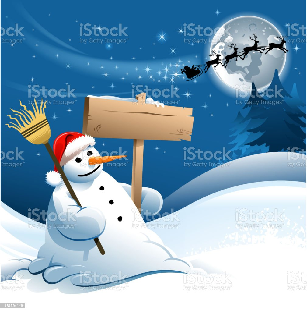 snowman sign royalty-free stock vector art